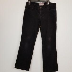 J. Crew Bottcut black corduroy pants size 10P